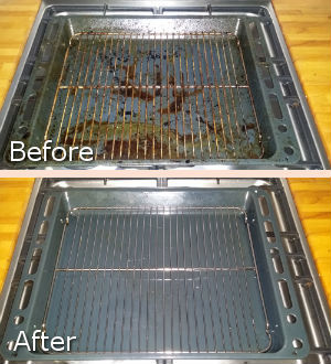 After and Before Cleaning of the Grill
